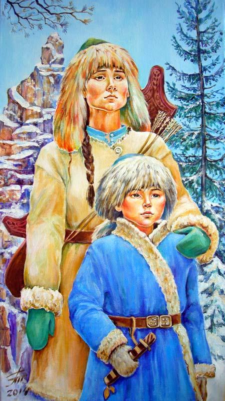 Мама Салавата Юлаева по имени Азнабика, портрет