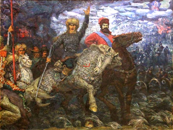 Салават Юлаев и Емельян Пугачев. Картина