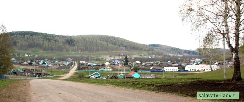 Вид на деревню Алькино в Салаватском районе Башкирии