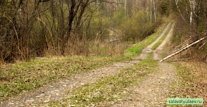 Проселочная дорога в деревню Текеево