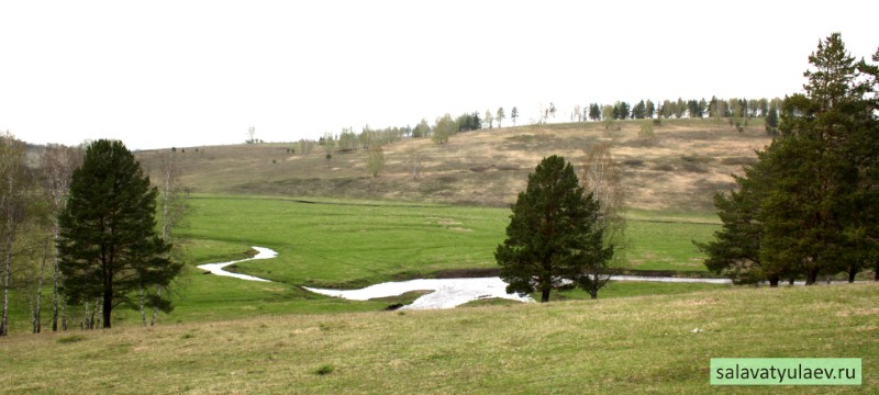 Вид на поле, где была деревня Текеево